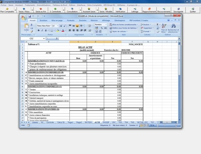 Logiciel de comptabilité KHABIR