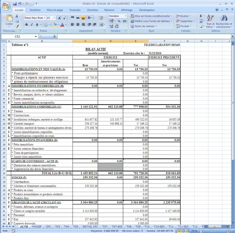 tele-declaration liasse fiscale