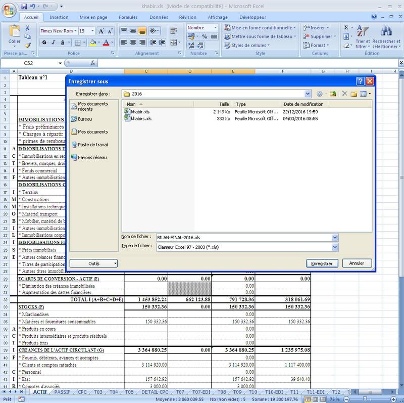 Tele-declaration de la liasse fiscale / bilan mode EFI