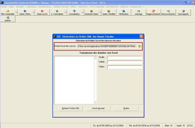 teledeclaration liasse fiscale XML