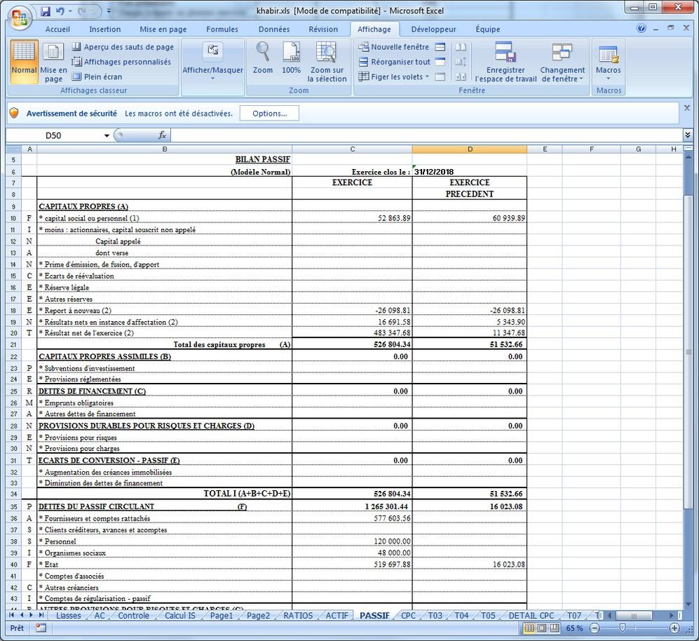 Logiciel EDI Maroc - Génération liasse fiscale sur Excel