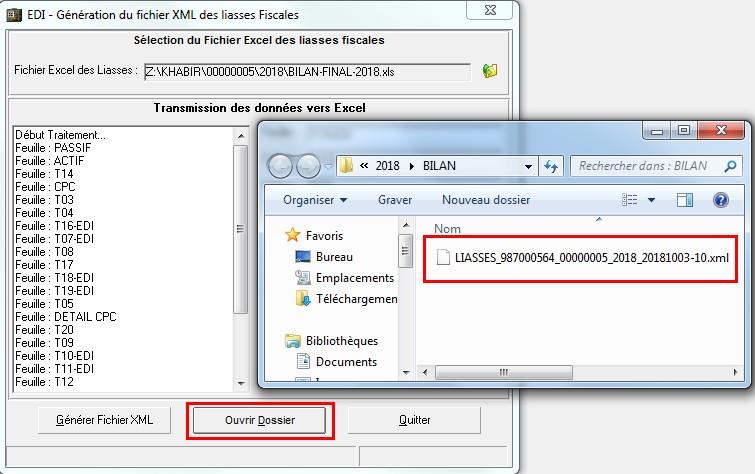 Logiciel EDI Maroc - Télédéclaration liasse fiscale xml maroc