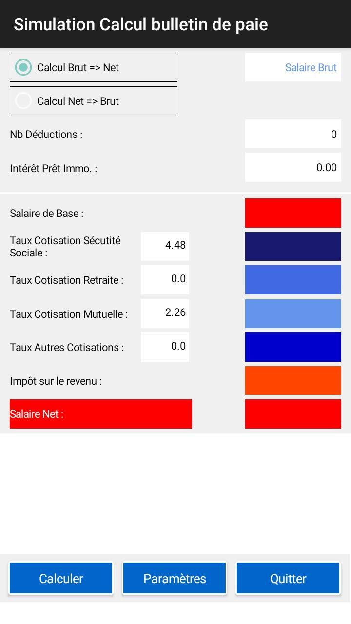 OJRA SIMULATION : Calcul Salaire Brut Net