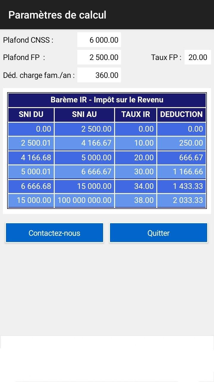 OJRA SIMULATION : Calcul Salaire Net Brut